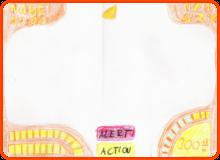 Erste Konzeptzeichnung des HUDs