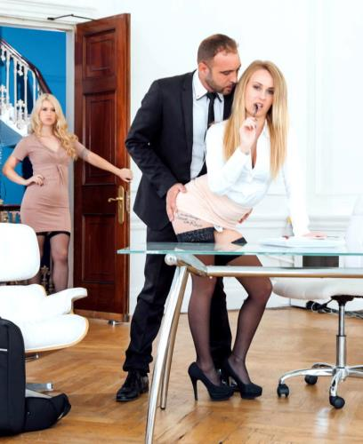 Misha Cross, Carmel Anderson - Office Anal Threesome (HD)