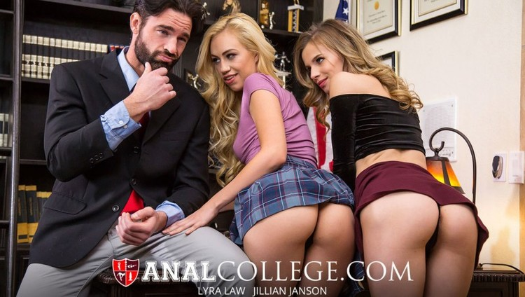 [AnalCollege] - Jillian Janson, Lyra Law - Blackmail our assholes (2020 / FullHD 1080p)