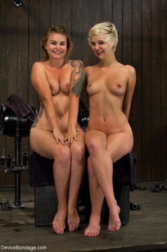 Payton Bell, Chloe Camilla - Interlocked, mouth to mouth sybian rides. Orgasm versus orgasm (HD)