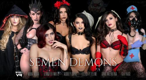 Audrey Royal, Felicity Feline, Franchezca Valentina, Gia Paige, Gina Valentina, Jennifer White, Moka Mora - Semen Demons (FullHD)