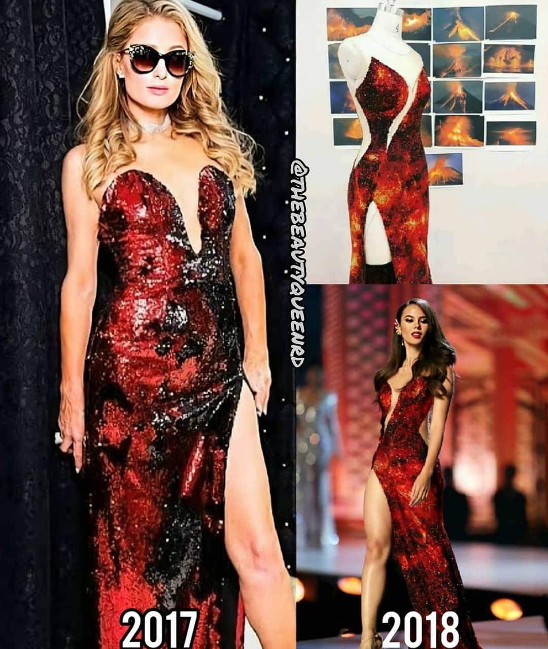 evening gown de miss universe 2018 parecido a este vestido q paris hilton uso em 2017. Sxeetwu4