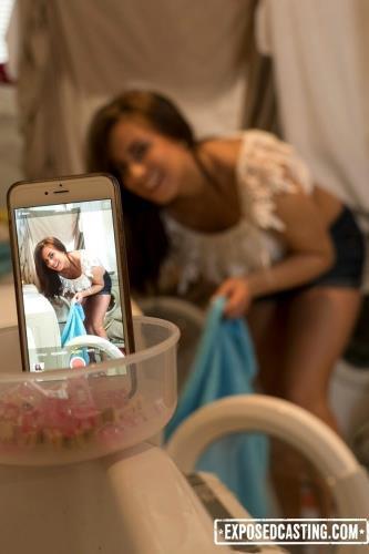 Nikki Waine - Flexible Ukrainian teen Nikki Waine gets cum covered in dirty hard casting (FullHD)