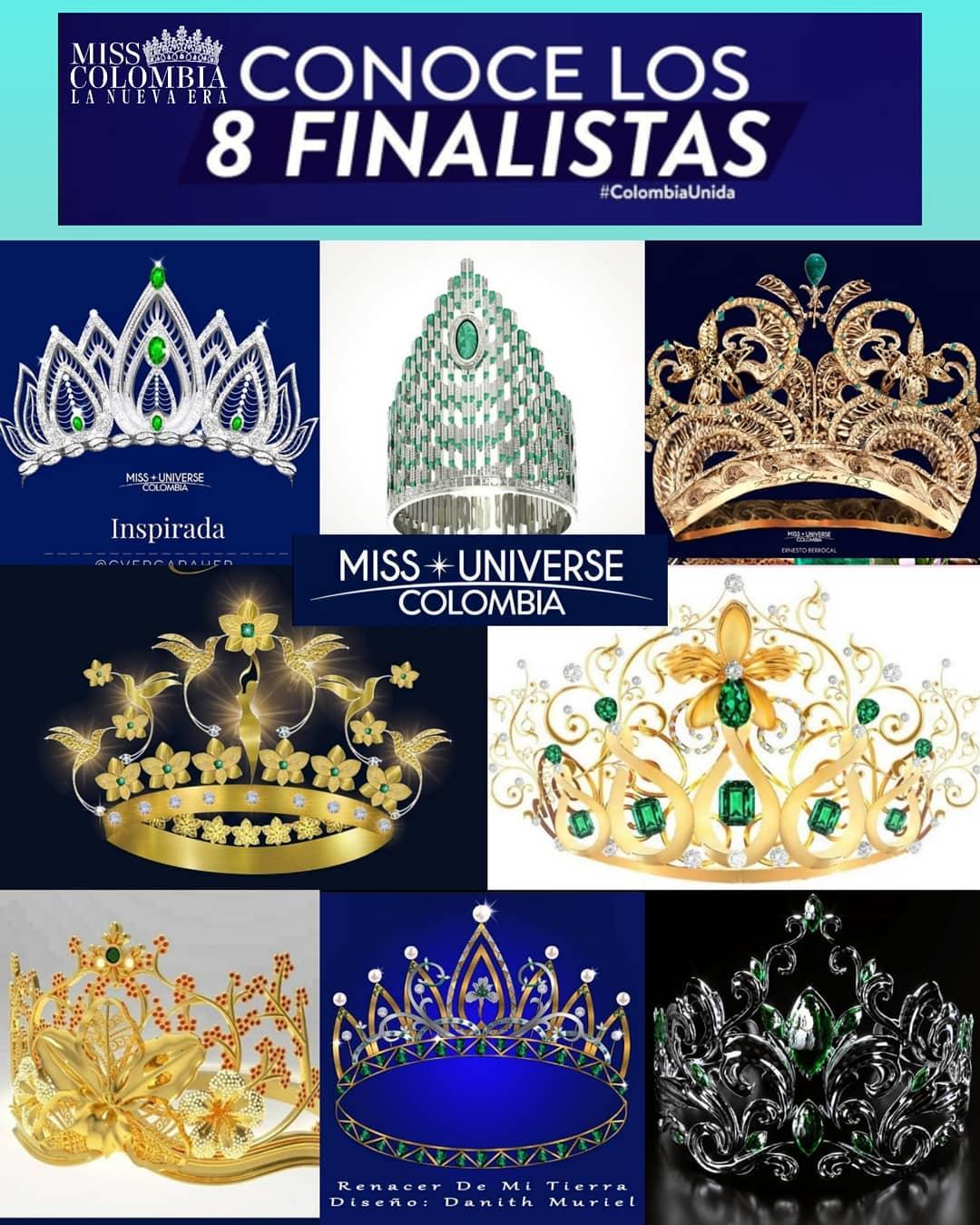Miss Universo Colombia tiene finalistas de coronas Pstitapc