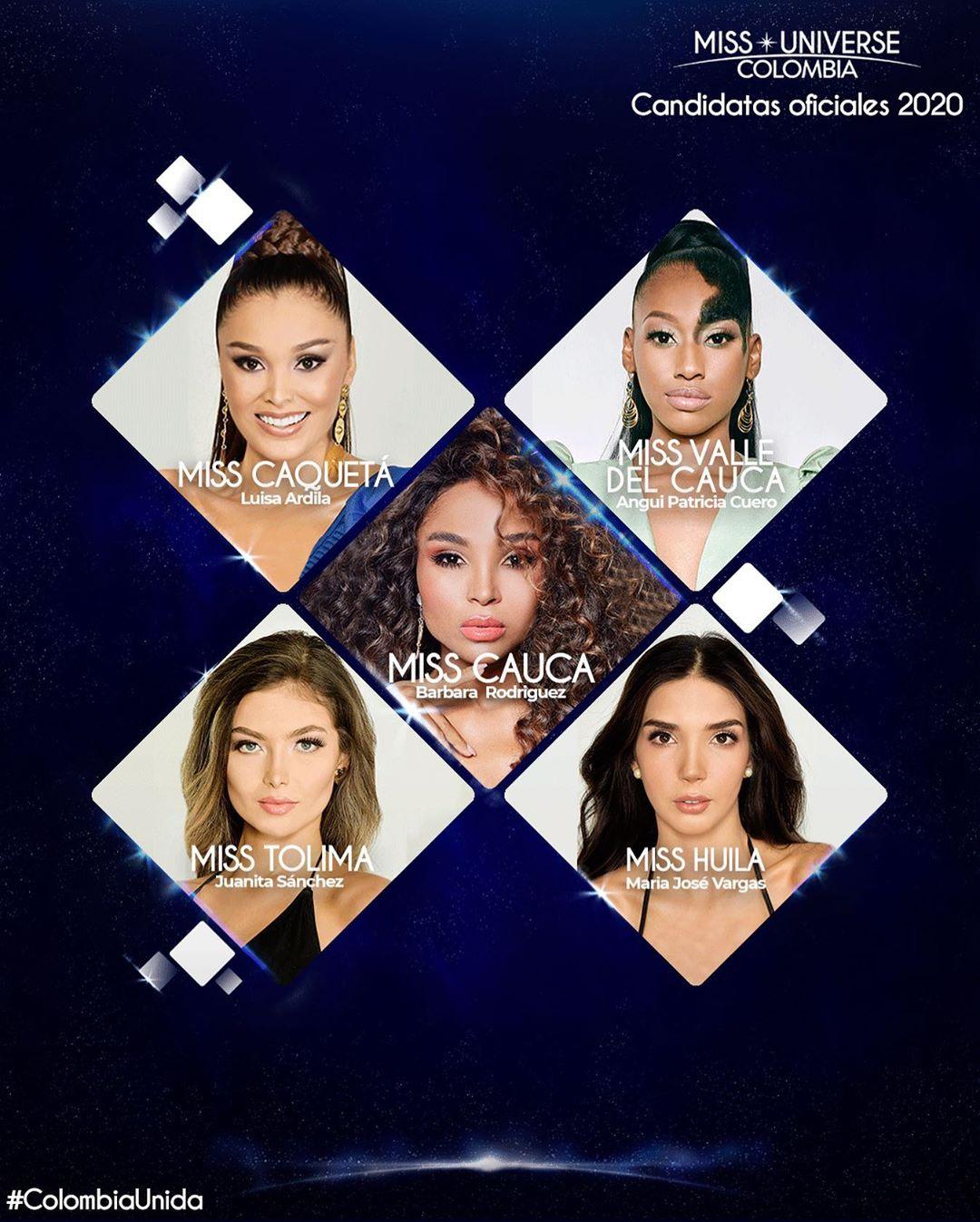Este es el segundo grupo de candidatas  de Miss Universe Colombia Wawifmuq