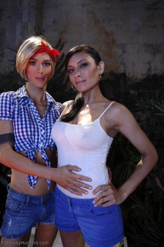 Beretta James, Nina Lawless - Two Hot Big Tit Babes get Spooked at Camp Beaver Falls (HD)