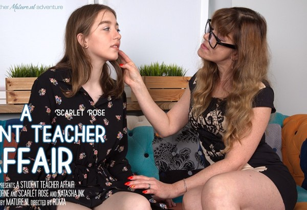 Eliza Thorne, Scarlet Rose - This teacher introduces her student to lesbian seductions