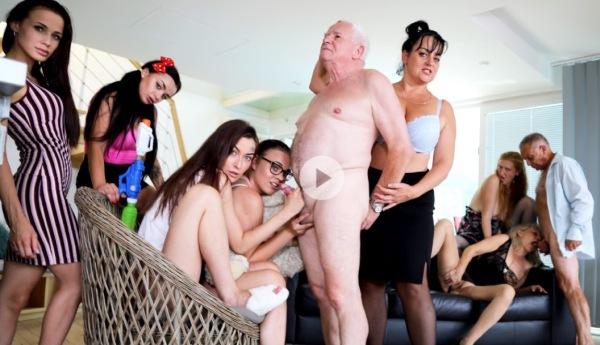 Casey, Daphne Klyde, Ginger Mi, Koko Blond, Mona, Inna, Nicole Love - Perverted oldies orgy part 2 1080p
