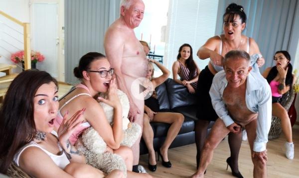 Casey, Daphne Klyde, Ginger Mi, Koko Blond, Mona, Inna, Nicole Love - Perverted oldies orgy part 1 1080p