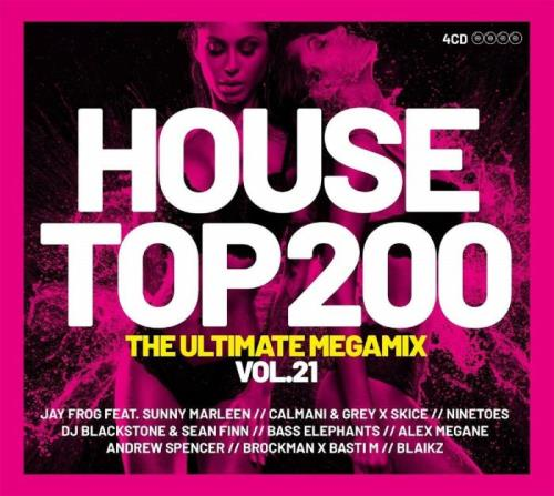 HOUSE TOP 200 MEGAMIX 2021 Vol. 21 [4CD] (2021)